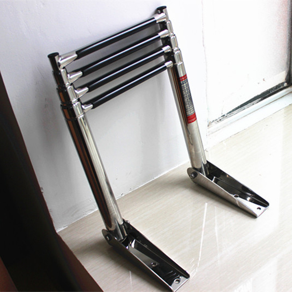 US $52 12 25% OFF|4 Steps Marine Boat Stainless Steel Telescoping Ladder  Deck Outboard Swim Platform-in Marine Hardware from Automobiles &  Motorcycles