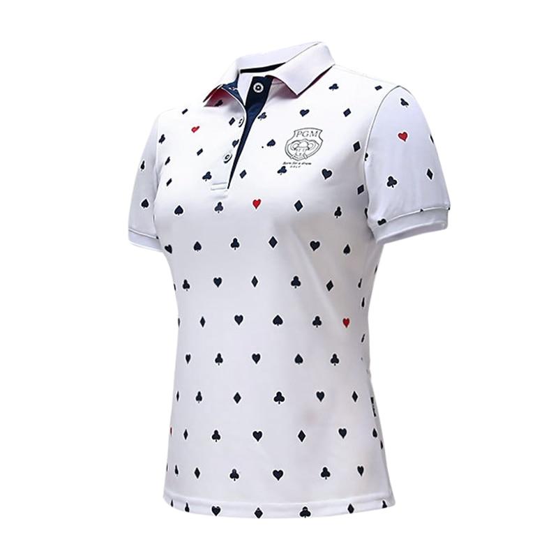 Women's Golf T Shirt Golf Apparel Ladies Polo T-shirt Breathable Quick Drying Golf Short Sleeve Polo Shirt Women Sports Tops