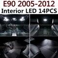 14 pcs X frete grátis Livre de Erros acessórios LED Interior Luz Kit Pacote para BMW E90 2005-2012