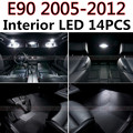 14pcs X free shipping Error Free LED Interior Light Kit Package for BMW E90 accessories 2005-2012