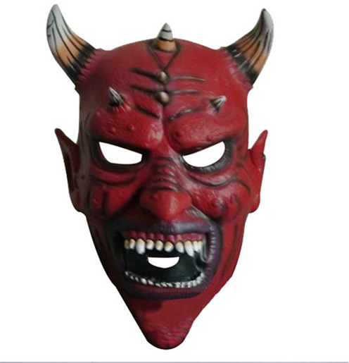 The Devil S Music De Maskers: Aliexpress.com : Buy Red Silicone Latex Horror Ox Horn