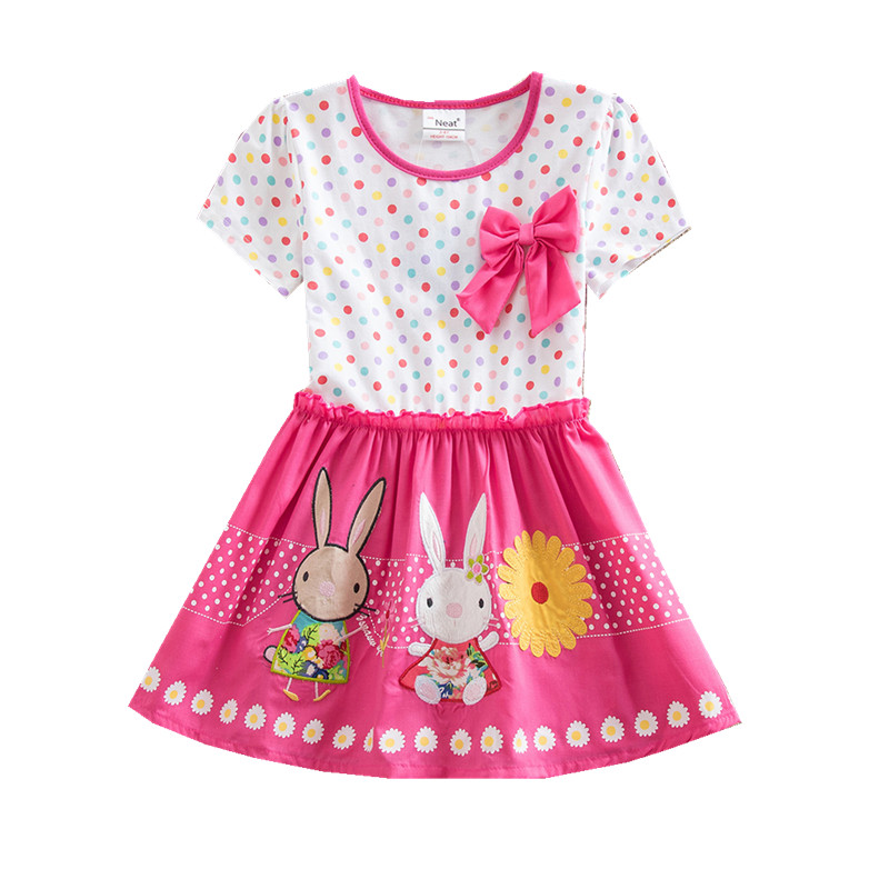 4-8Y Retail Dress for Girls Baby Girl Children Summer Dresses Princess Party Dresses Kids Girls Clothes Neat SH4829