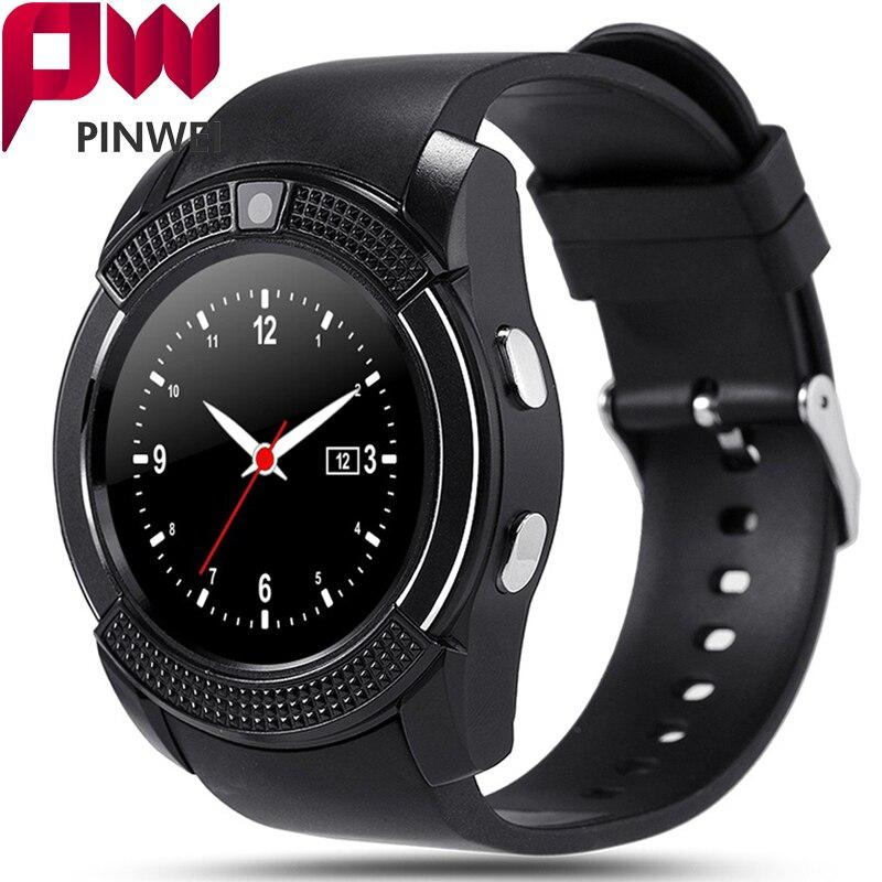 imágenes para Pinwei pwv8 impermeable bluetooth smart watch apoyo sim tf tarjeta inteligente reloj relojes smartwatch reloj deportivo para el teléfono android