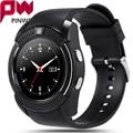 Pinwei v8 impermeable bluetooth smart watch con ips hd sim tf tarjeta inteligente reloj relojes smartwatch reloj deportivo para android teléfono