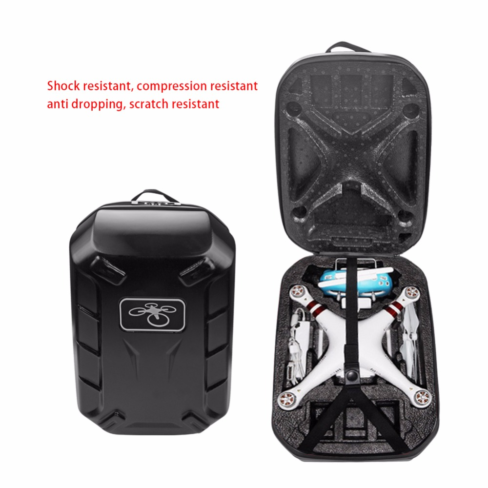For DJI Phantom 3/4 Waterproof Bag Backpack Shoulder Case HardShell Box for DJI Phantom3/ 4 Standard FPV Drone Quadcopter рюкзак skymec case для dji phantom 3 x353 1 fpv цвет хаки