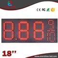 """18 """"red 7 Сегментный Нефти и Газового топлива/дизель 8.889/10 цифровых номеров привело газ/нефть/азс цена экран вывеска"""