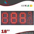 18'' red 7 Segment Oil and Gas fuel/diesel 8.889/10 digital numbers led gas/oil/petrol station price display sign board screen