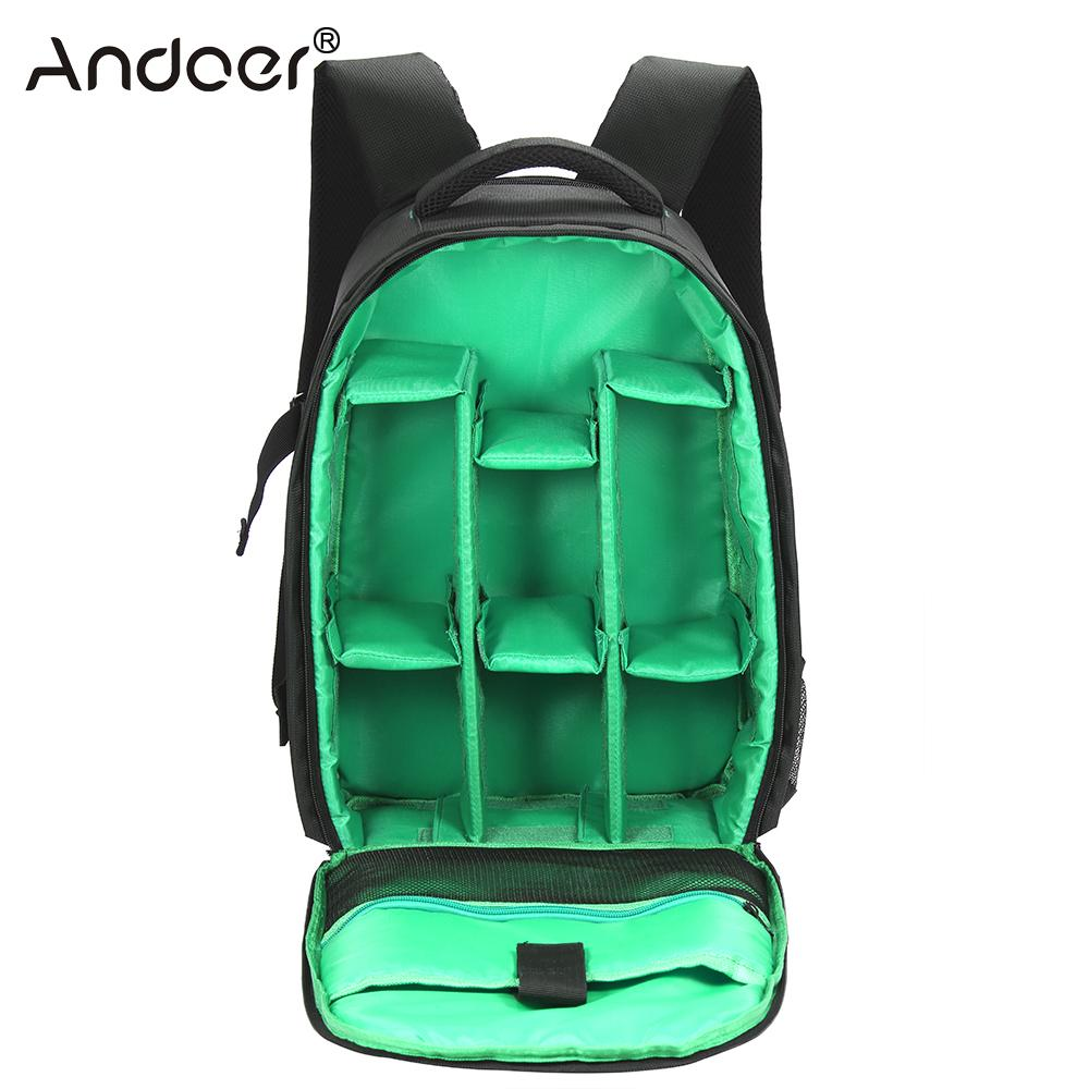 Learned Andoer Outdoor Wear-resisting Dslr Camera Bag Video Backpack Water-resistant Multi-functional Breathable Photograph Camera Bags