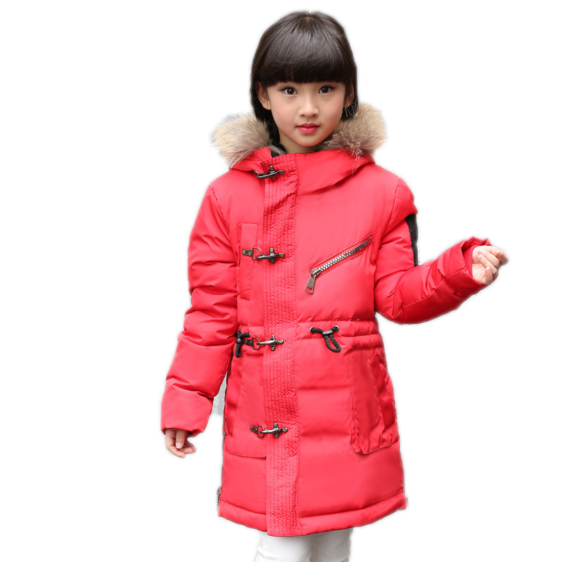 Kids Down Jackets 2017 New Winter Jacket for Girls Boys Children Long Thick Warm Down Jackets Outwear Coat with Detachable Cap cartoon boys girls winter down coat kids long sleeve hooded jackets children thick warm outwear clothes parkas for girls yb234