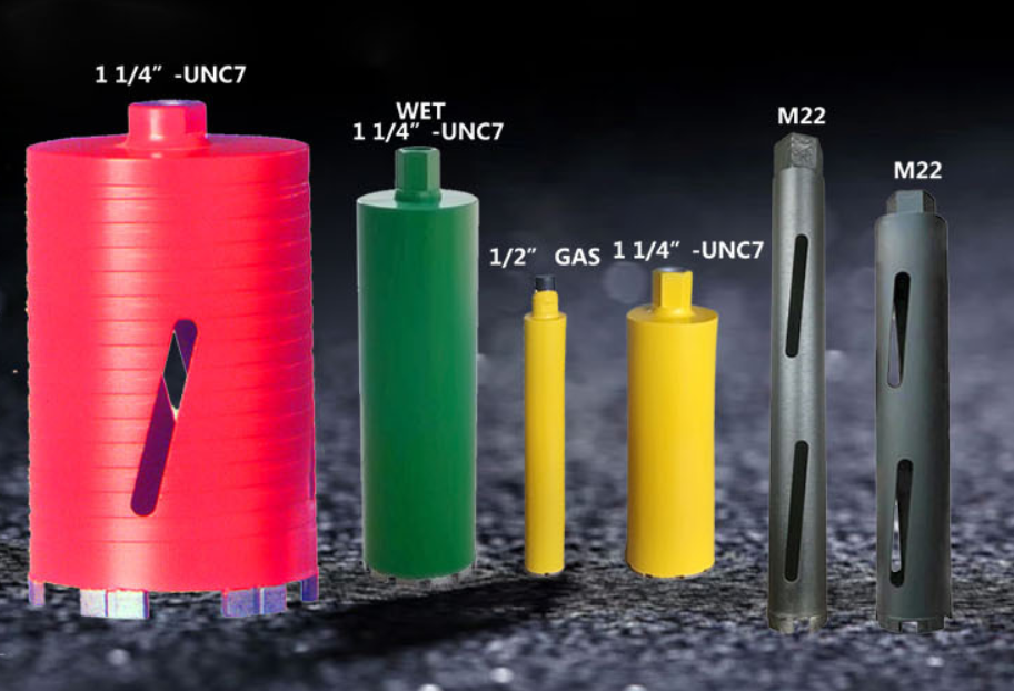 1 1/4 thread 450mm wet diamond core drill bit for marble granite concrete