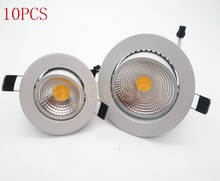 10pcs  LED downlight light spot led COB Ceiling Spot Light 3w 5w 7w 12w 85-265V ceiling recessed Lights Indoor Lighting цена