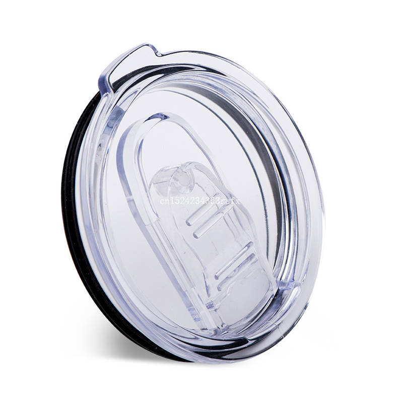 50pcs 20oz Cups Lids Rambler Tumbler Cup Replacement Crystal Clear Splash Spill Resistant Proof Lids Free