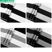 Black and white vertical stripes pattern wallpaper living room bedroom coffee barber clothing store TV background wallpaper