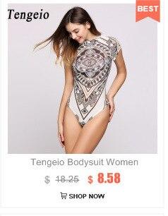 Tengeio Long Sleeve Black White Bodysuit Womens Romper Fashion Open ... 9fe09bf94