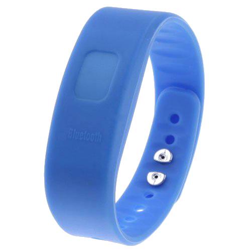 USB <font><b>Bluetooth</b></font> <font><b>Incoming</b></font> <font><b>Call</b></font> <font><b>Vibrate</b></font> Alert Alarm Anti-lost Band <font><b>Bracelet</b></font> lithium-ion polymer battery with LED indicator blue