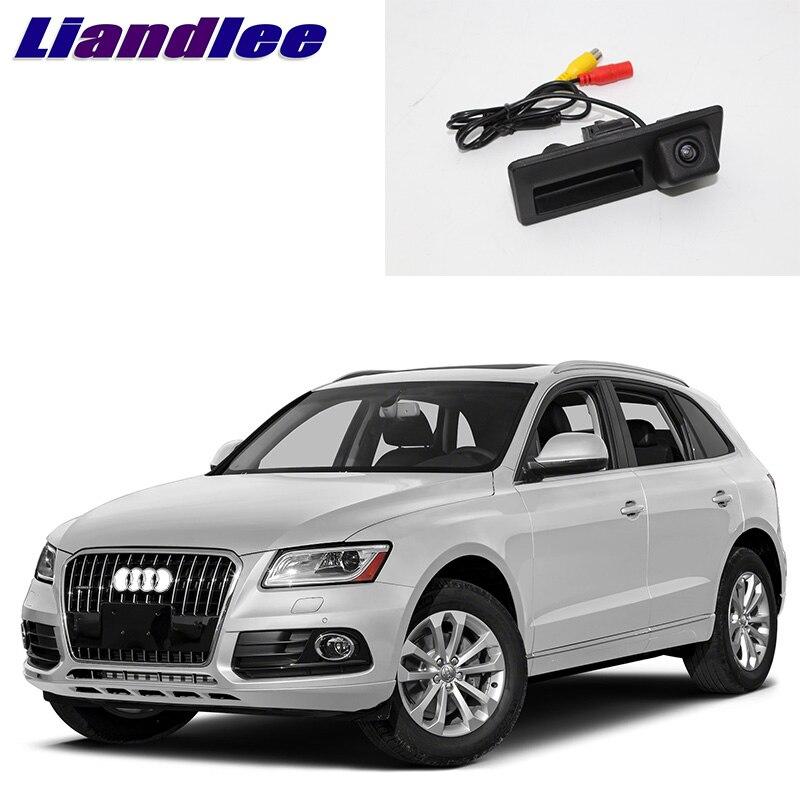 LiandLee Car Trunk Handle Rear View Reversing Parking Camera For Audi Q5 8R 2008~2017|trunk handle|car rear reverse camera|camera for parking - title=
