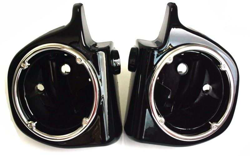 One Pair Vented Lower Fairing 6.5 Speaker Boxes Pods For Harley Touring FLHT FLHX FLTR 94-13 6 5 speaker lower vented fairing box pods for harley touring flht flhx fltr electra street glide road king ultra classic