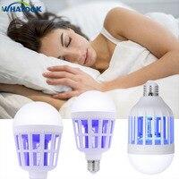Electric Mosquito Killer LED Bulb Fly Bug Zapper Light EU 220V/US 110V 9W 15W E27 Insert Mosquito Repeller Night light Lamp *10