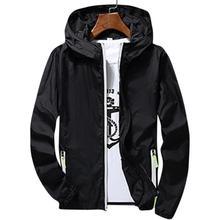 Мужская/Женская водонепроницаемая ветровка, летняя ультратонкая толстовка с капюшоном, повседневная спортивная верхняя одежда, пальто с длинным рукавом на молнии, Солнцезащитная куртка