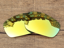 Polycarbonate 24K Golden Mirror Replacement Lenses For Jawbone Sunglasses Frame 100 UVA UVB Protection