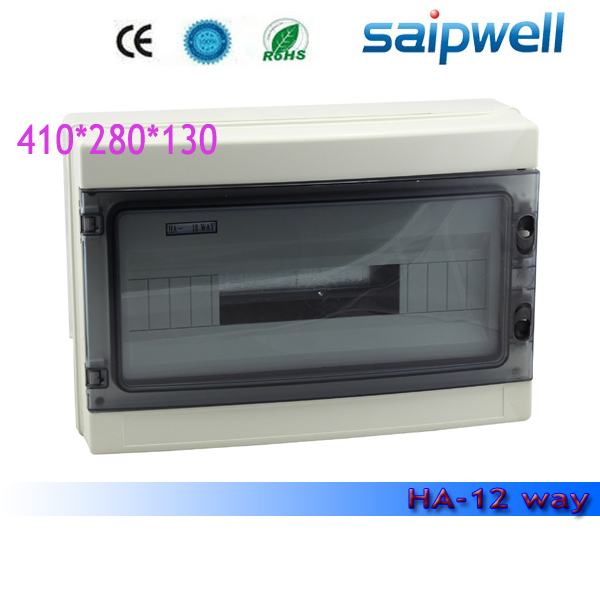2015 new Hot Sale Best ip66 Plastic Outdoor Electrical Distribution Box Waterproof box SHA-18 410*280*130mm High Quality