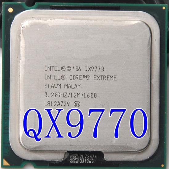 Intel Core 2 Extreme QX9770  Qx9770 12M Cache, 3.2GHz, 1600 MHz FSB LGA775 Desktop CPU  Properly Desktop Processor Free Shipping
