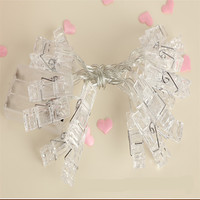 LED String Lights 10M 100LED Holiday String Lighting Lamp Starry Battery Card Photo Clip Luminaria Festival