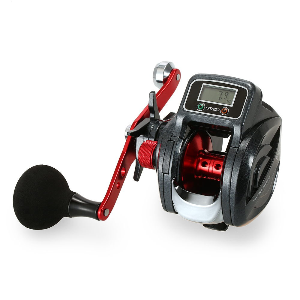 Fishing Reel Bait Casting Reel Baitcast Fishing Reel Tackle with Digital Display Pesca Linecounter Reel 6.3:1 13+1 Ball BearingFishing Reel Bait Casting Reel Baitcast Fishing Reel Tackle with Digital Display Pesca Linecounter Reel 6.3:1 13+1 Ball Bearing