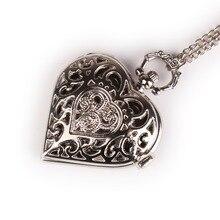"""Классические винтажные кварцевые карманные часы в стиле стимпанк с подвеской в виде сердца, серебряные часы с надписью """"Death Note"""", женские часы в подарок"""
