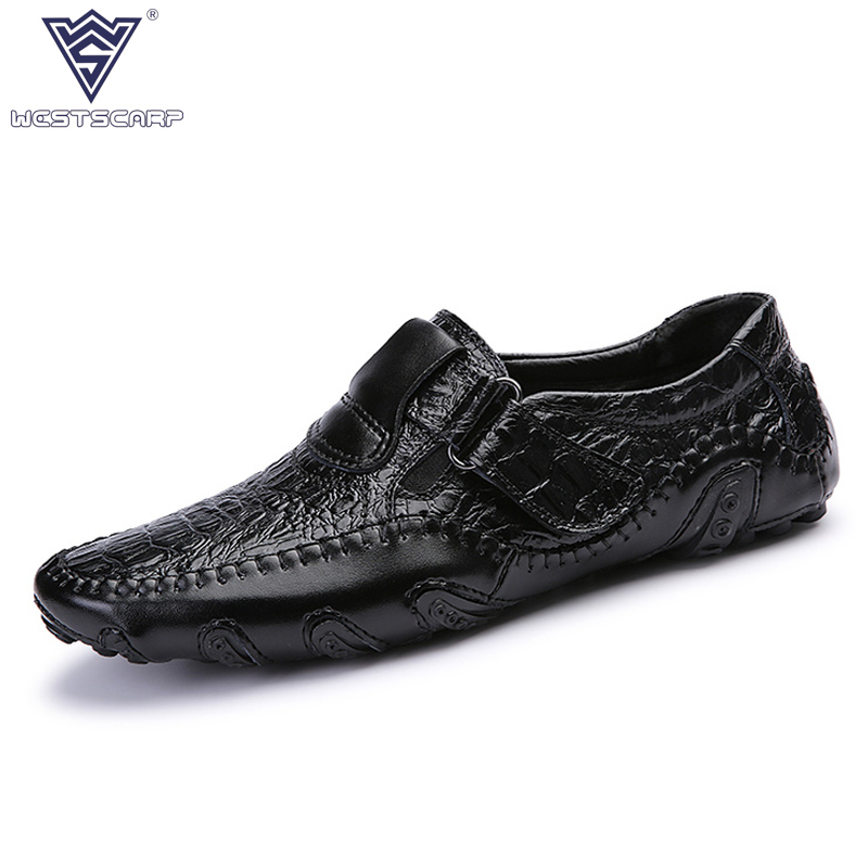 Fashion British Style Men Causal Shoes Split Leather Slip on Men Shoes High Quality Outdoor Shoes Zapatillas Deportivas