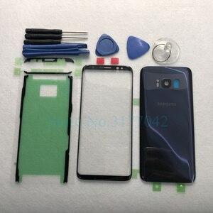 Image 5 - Для Samsung Galaxy S8 Plus S8 + G955F S8 G950 G950F Передняя Сенсорная панель Внешний объектив + задняя крышка батарейного отсека задняя стеклянная крышка корпуса