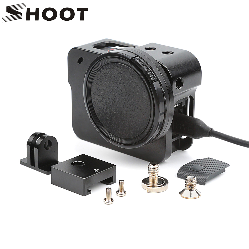 SHOOT Aluminum Alloy Protective Case for GoPro Hero 5 Black Action Camera with 52mm UV Filter Mount for Go Pro Hero5 Accessories