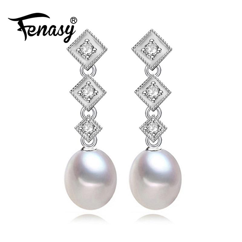 Edler Schmuck Fenasy Perle Schmuck Natürliche Perle Ringe Für Frauen Silber Ring Wasser Tropfen Perlen Mode Schmuck Mit Geschenk Box