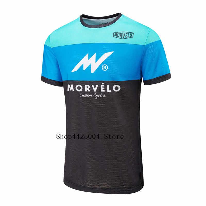 Morvelo 半袖 Crossmax オフロードダウンヒル Dh MX AM 服 Mtb サイクリングジャージオートバイモトクロスバイク Tシャツ
