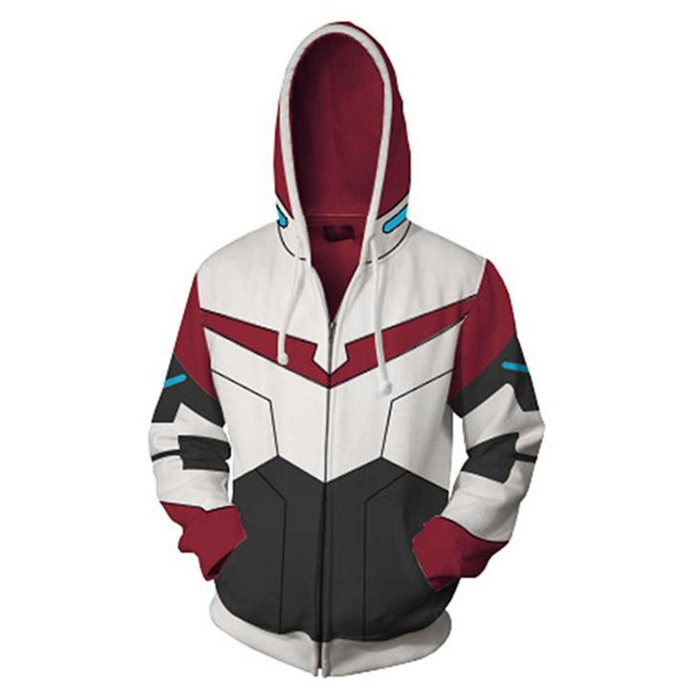 Voltron:Legendary Defender Lance Hoodie 3D Printed Zipper Up Hooded Hoodie Adult Men Casual Sweatshirt Cool Zip Up Hoody Hoodie
