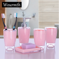 Wourmth bathroom bath gift sets creative home 4pcs/set Home accessories home bath products