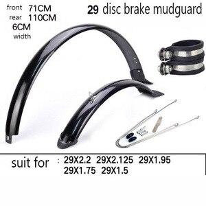 Image 3 - 14 16 20 26 27.5 29 polegada 700c bicicleta fender duplo suporte ajustável tamanho paralama para bicicleta dobrável dianteiro e traseiro lama guarda