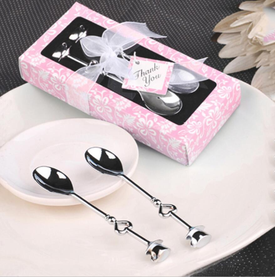 Wedding Favors And Gifts Box Love Heart Spoons Coffee