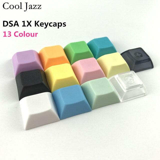 クールジャズpbtキーキャップdsa 1u mixded色緑黄青白透明キーキャップ用ゲーミングメカニカルキーボード