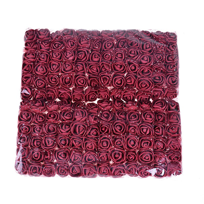 Sale!!! (144pcs/lot) 2cm head Multicolor PE Rose Foam Mini Flower Bouquet Solid Color/Scrapbooking Artificial foam Rose Flowers