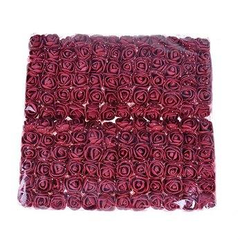 Sale!! 2cm head Multicolor PE Rose Foam Mini Flower Bouquet Solid Color/Scrapbooking Artificial foam Rose Flowers(144pcs/lot) rose
