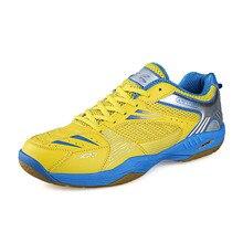 Anti-скользкий узелок теннисные смешанные туфли бадминтон унисекс дышащий профессиональный мужские цвета