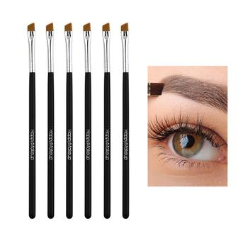 2/5pcs Eyebrow Brush Single Beveled Wooden Handle Eyebrow Brush Eye Powder Foundation Brush Eyebrow Makeup Brush