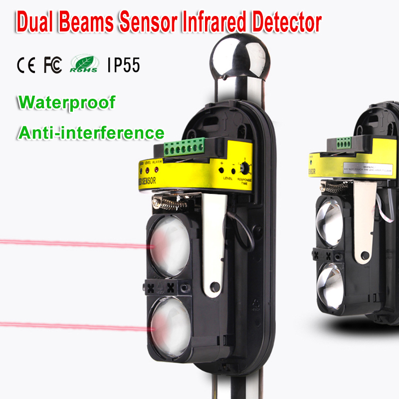 Double Infrared Beams Sensor Detector For Wired Home Burglar Security Alarm System 30m~150m Outdoor Perimeter Wall