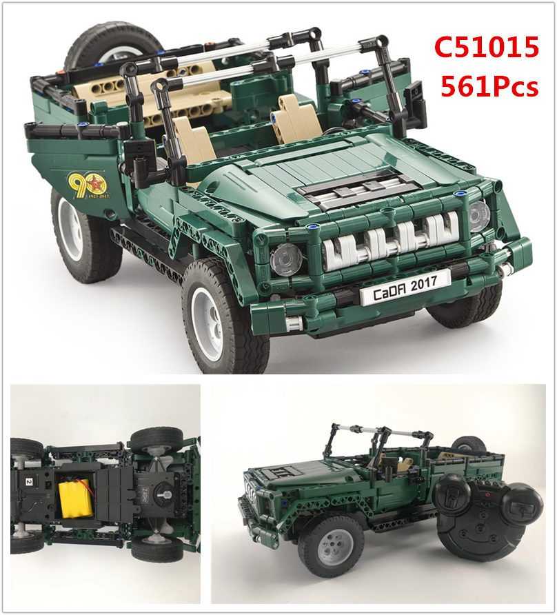 Military Weapon RC Jeep Truck Car Model Building Blocks Bricks Educational Toys For Children technic 20011 20033 42065
