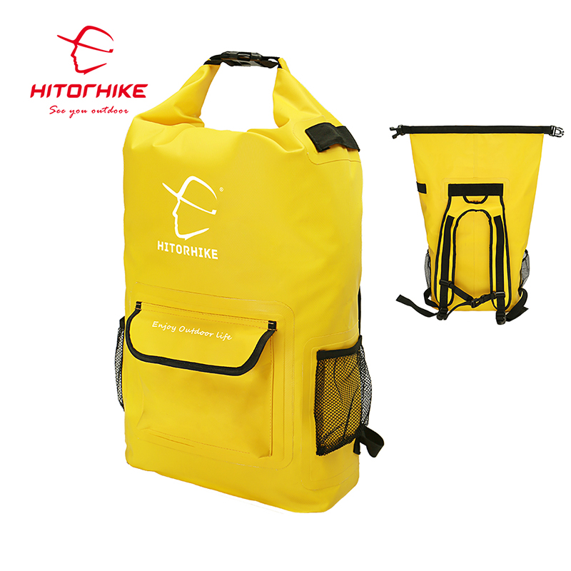 HITORHIKE 25L Outdoor Water-Resistant Dry Bag Sack Swim Storage For Rafting Boating Kayaking Canoeing Camping Travel Kits 2018