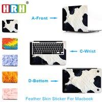 Hrh 3で1フェザートップ+ボトム+手首フルカバースキンラップトップステッカー用のmacbook air proの網膜11
