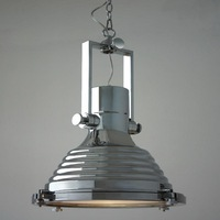 Dia40cm American Industrial Loft Vintage Pendant Lights For Dining Iron Black Silver Bronze E27 Edison Home