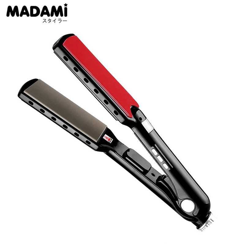 Wide Plates Straightening Irons Titanium High Temperature Hair Straightener MCH Flat Iron Styling Tools professional vibrating titanium hair straightener digital display ceramic straightening irons flat iron hair styling tools eu
