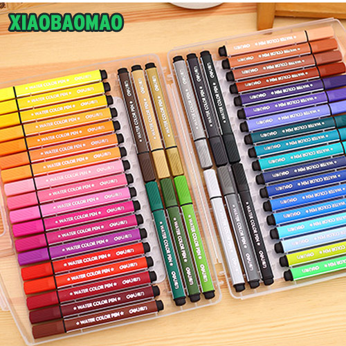 12/18/24/36/48 Colors/ Lot Water Color Pen Brush Marker Highlighter For Kids Stationery Copic Markers Art Supplies School